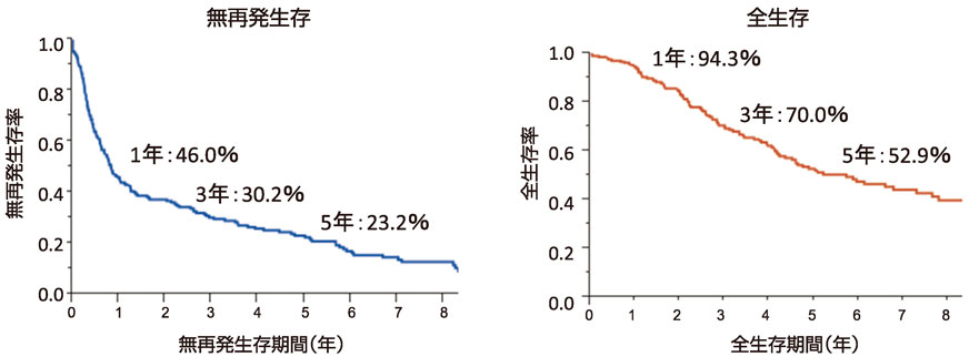 図10:大腸癌肝転移の切除後予後(n=217)