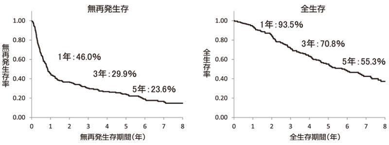 図11:大腸癌肝転移の切除後予後(n=217)